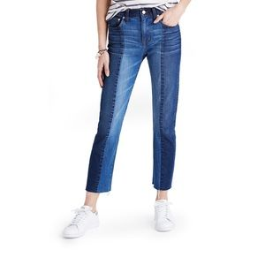 Madewell two-toned cruiser straight jeans